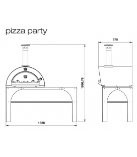 Four à pizza CLEMENTI Pizza Party