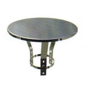 Chapeau plat inox sur collier