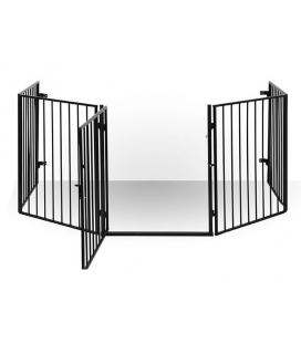 Grille de sécurité avec porte